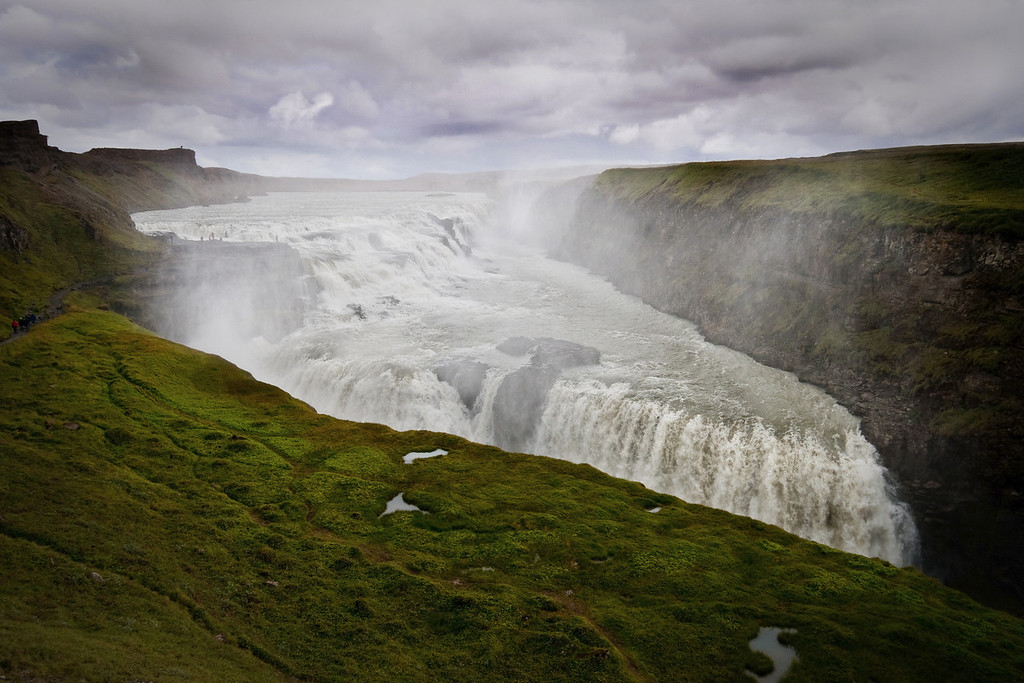 The majestic Gullfoss waterfall in Iceland, near Reykjavik during summer.