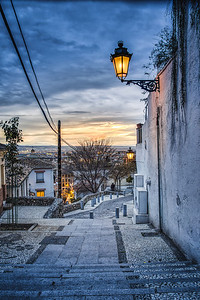 Realejo View during Sunset - Granada