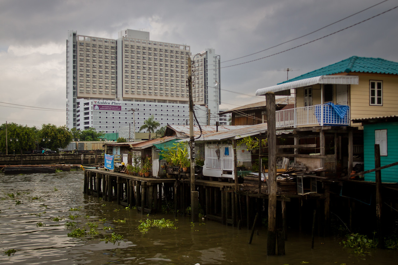 A muslim village built on the chao praya river in bangkok, standing as guardians of the capital.