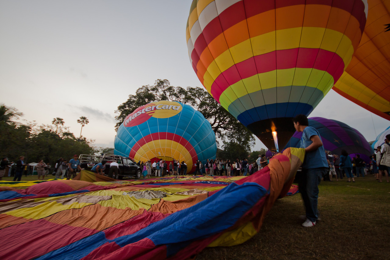 International Hot Air Balloon Festival in Chiang Mai, Thailand.