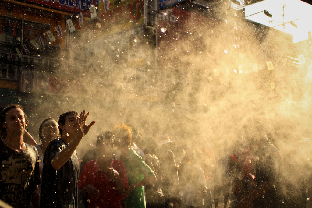 Songkran, the watery Thai New Year.