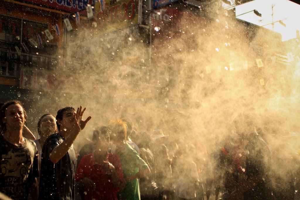 Songkran, the watery Thai New Year.