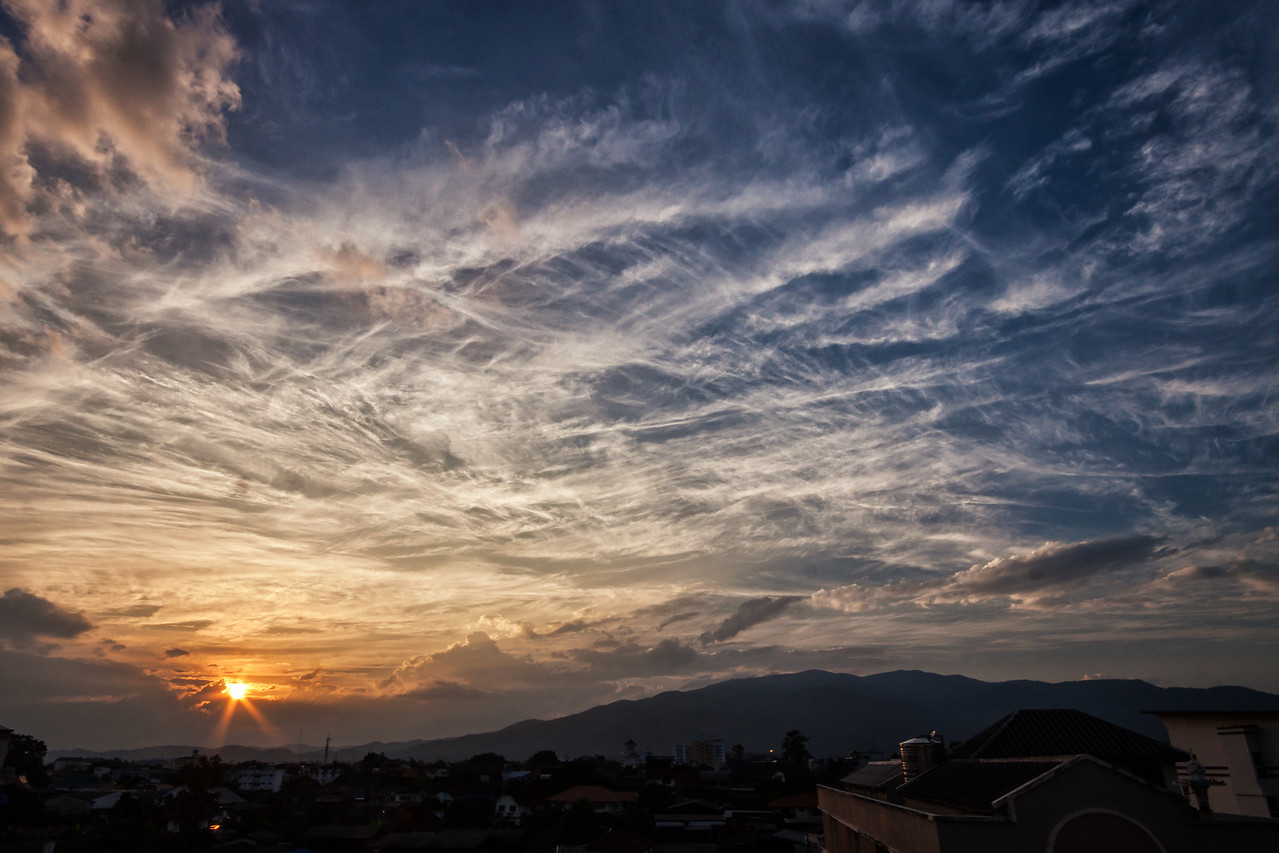 Sunset in Chiang Mai, Thailand