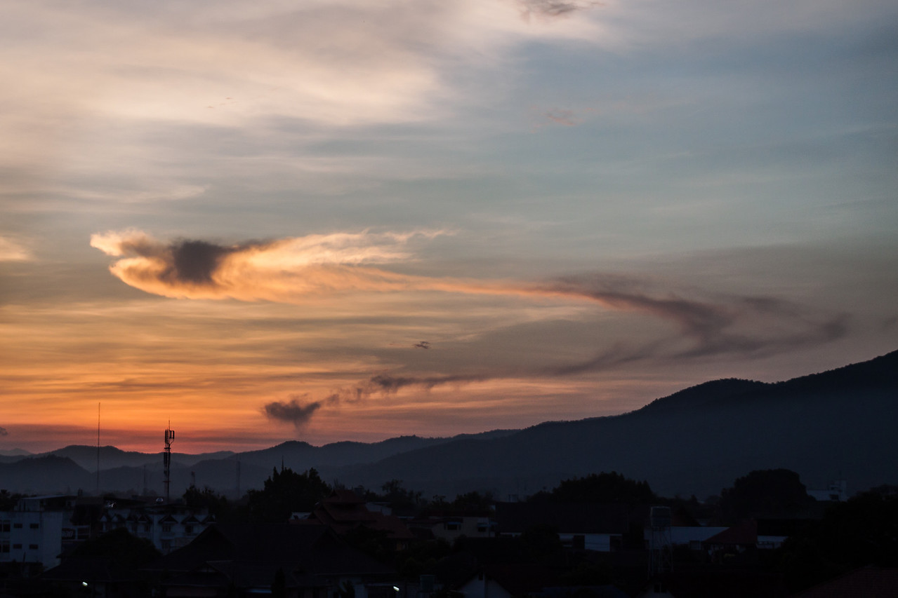 Cloud looking like a dragon in Chiang Mai, Thailand