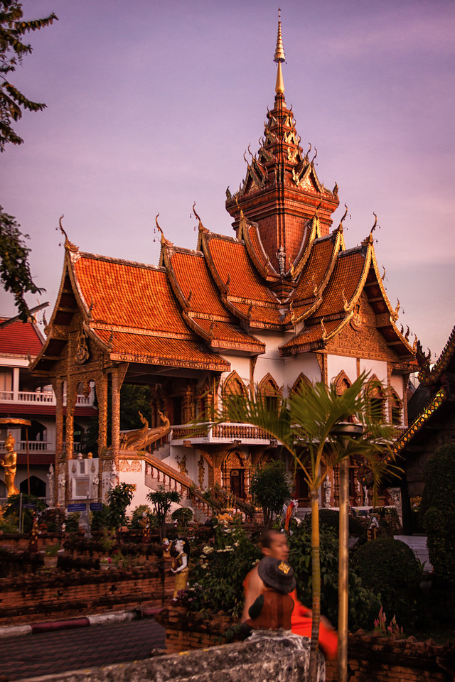 Wat Buppharam, one of the most beautiful temples in Chiang Mai, Thailand