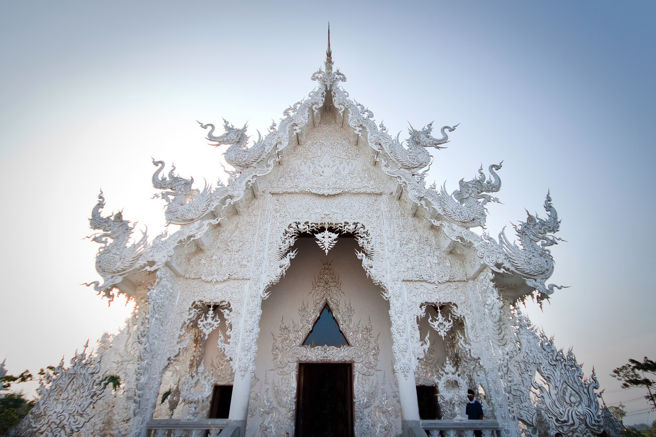 The entrance of the white temple wat rong khun in chiang Rai, Thailand