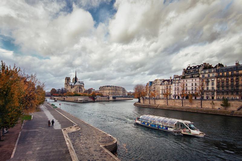 La Seine river in Paris, France.