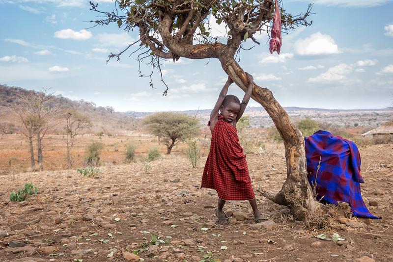 Playful Maasai Child