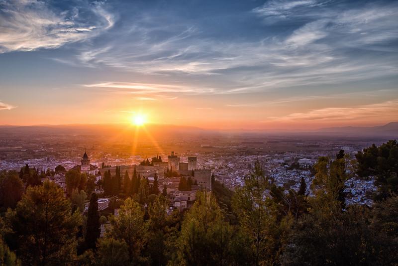 Sunset over Granada - Spain