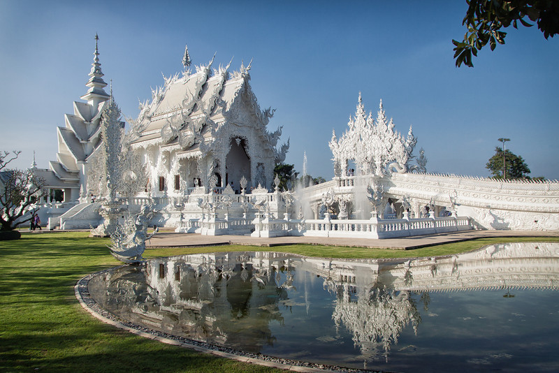 Wat Rong Khun - The White Temple in Chiang Rai, Thailand.