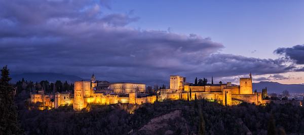 The Alhambra at Dusk - Spain