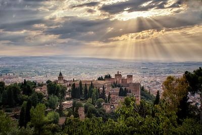 Overlooking the Alhambra - Granada